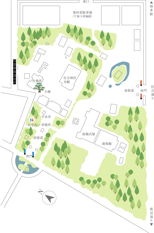 住吉神社  境内マップ