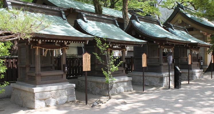 船玉神社、志賀神社、人丸神社、菅原神社